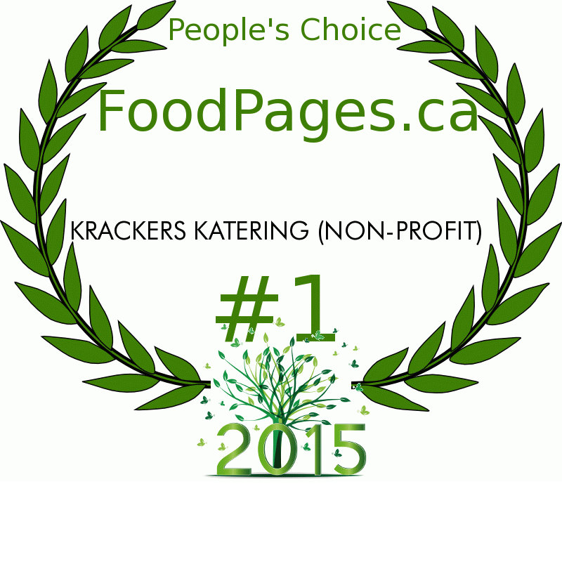 KRACKERS KATERING (NON-PROFIT) FoodPages.ca 2015 Award Winner